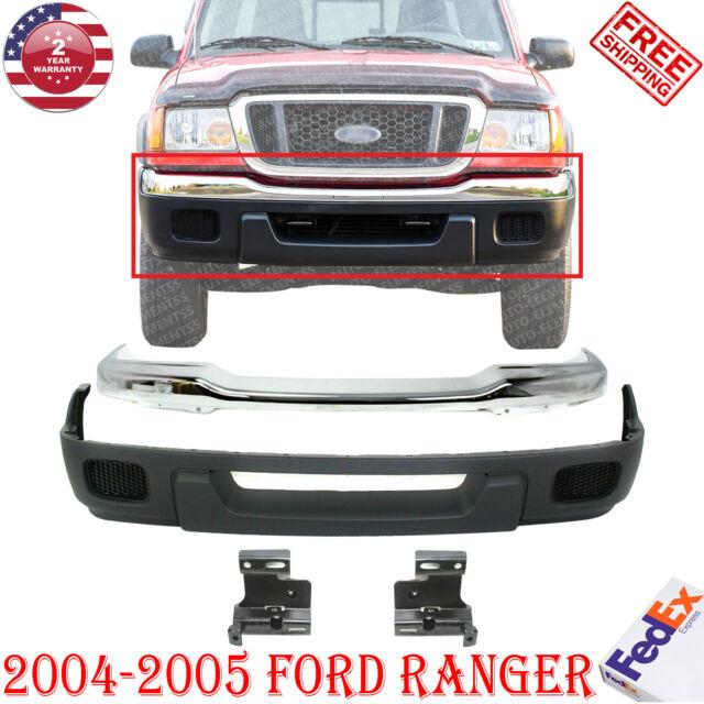 Front Bumper Chrome Upper Valance Reinforce 4pcs For Ranger 4wd 04 05 W O Fog Ho For Sale Online Ebay