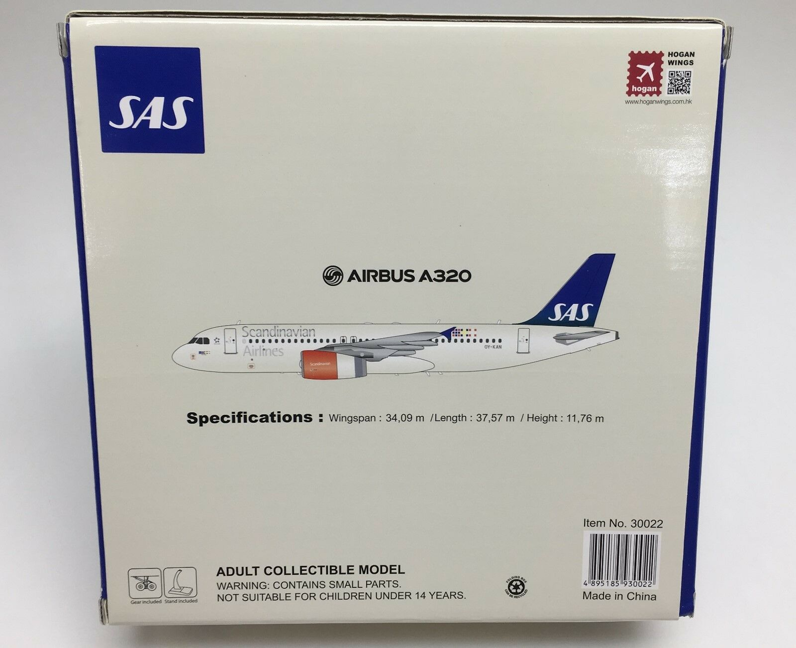 Hogan Wings 30022, 30022, 30022, Airbus A320, SAS, Scandinavian, 1 200 307579