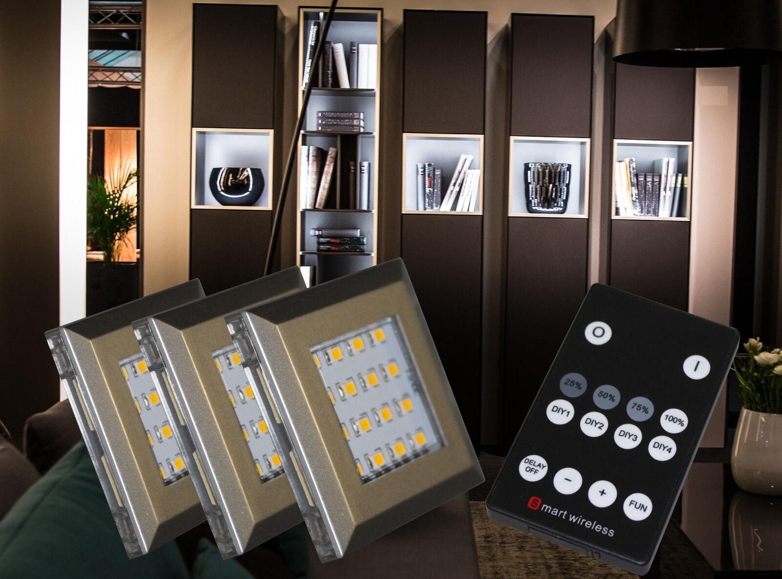 LED Möbel Unterbau Leuchte Fernbedienung Dimmbar Helitec Set Mod.2115-16 4154möb