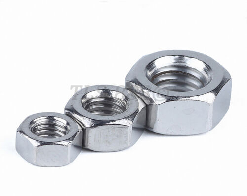 Left Thread Hex Nut M4//5//6//8//10//12//14//16//18//20 Hexagon Full Nuts 201 Stainless