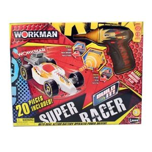 20Pcs Workman Build It Yourself Super Racer Car Assemble Power Tool Kit Toy Kids