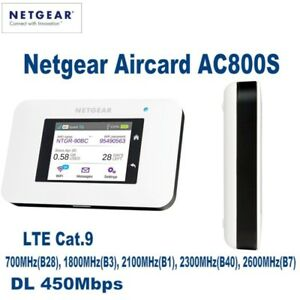Unlocked Netgear Aircard AC800S 4G LTE Cat 9 Mobile Hotspot WiFi