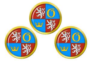 Hradec-Kralove-Region-Tcheque-Marqueurs-de-Balles-de-Golf
