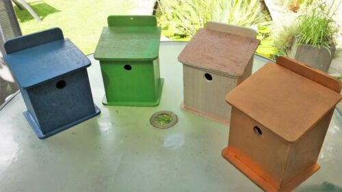 Nesting box in kit form for wild garden birds in self assembly form DIY project