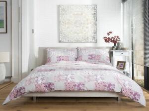 Stunning-Patchwork-Design-Duvet-Cover-Set-in-Pink-Single-Bed-Size