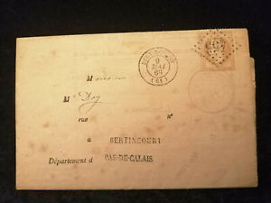 Frankreich-09-05-1868-Brief-Kaiser-Napoleon-III-Bertincourt-Masnieres