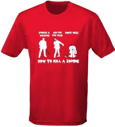 How To Kill A Zombie Gaming Mens T-Shirt 10 Colours S-3XL by swagwear
