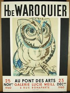 Affiche Originale 1966 Lucie Weil Pont Des Arts Henry De Waroquier Imp Jacomet Les Catalogues Seront EnvoyéS Sur Demande