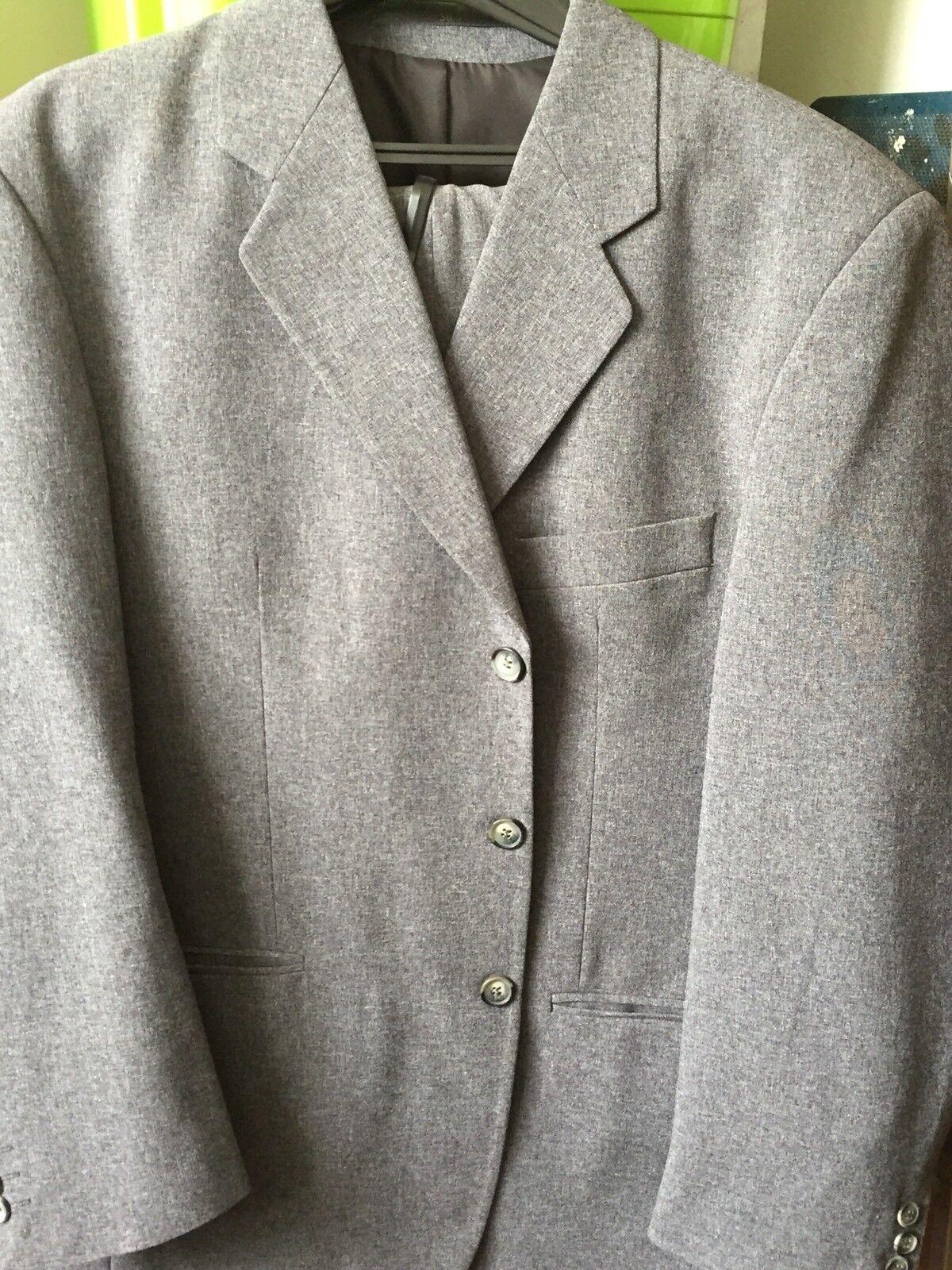 Anzug  in graumeliert Gr. 50