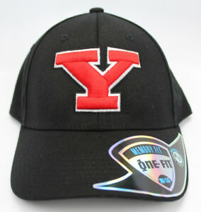 YOUNGSTOWN-ST-STATE-PENGUINS-NCAA-BLACK-STRETCH-FLEX-FIT-1-FIT-TOW-CAP-HAT-NWT