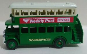 LLEDO-FROMOTIONAL-034-Isle-of-Weight-Weekly-Post-034-DOUBLE-DECKER-BUS-ENGLAND-NEW