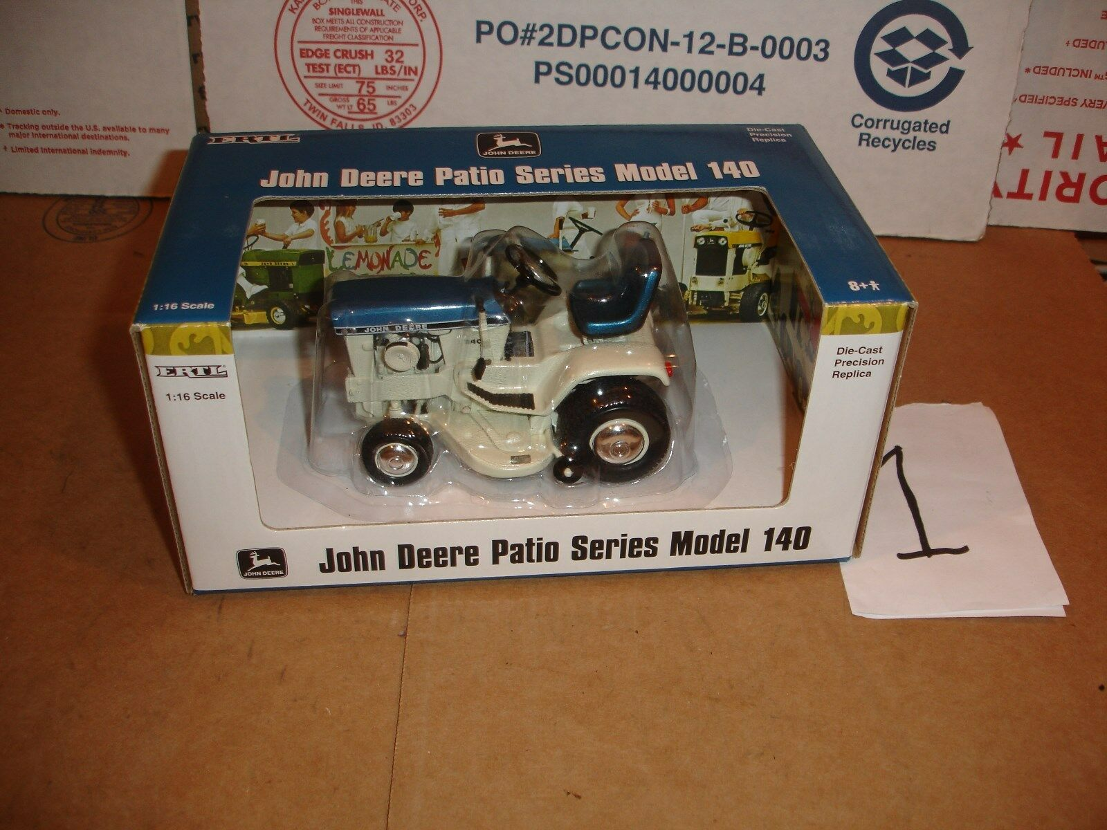 1 16 John Deere Bleu Patio Series Tondeuse à gazon