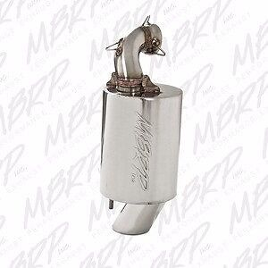 MBRP Polished Stainless SILENCER 13-17 POLARIS 600 800 PRO RIDE RMK ASSAULT RUSH