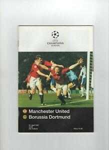 Manchester United V Borussia Dortmund programme Champions League April 1997. GC