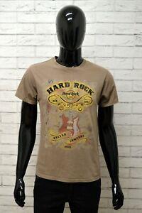 Maglia-Polo-Uomo-HARD-ROCK-ROMA-Taglia-S-Maglietta-Shirt-Man-Casual-Stampa