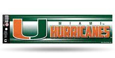 Miami Hurricanes Glitter Bumper Sticker [NEW] NCAA Auto Car Truck Decal