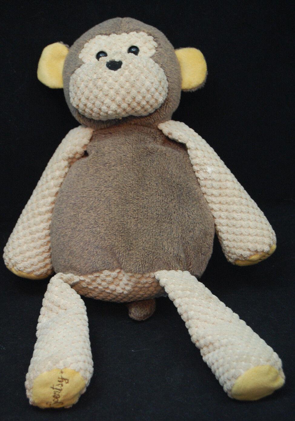 Mollie Monkey Scentsy Buddy  Brown Tan Plush 16  Toy Zipper Flaw