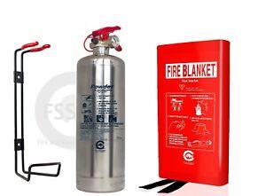 PREMIUM 1 KG ABC POWDER SILVER CHROME FIRE EXTINGUISHER OFFICE ...