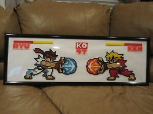 Details about Perler Bead Art - Handmade with care - Frame - Street Fighter
