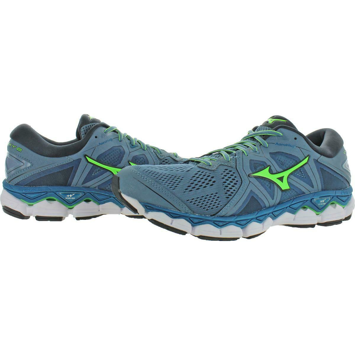 Mizuno Mens Wave Sky 2 Exercise Gym Trainers Athletic Shoes Sneakers BHFO 7314