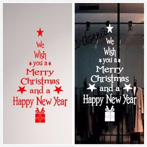 Image Is Loading Merry Christmas Amp New Year Decoration Tree Wall  Part 82