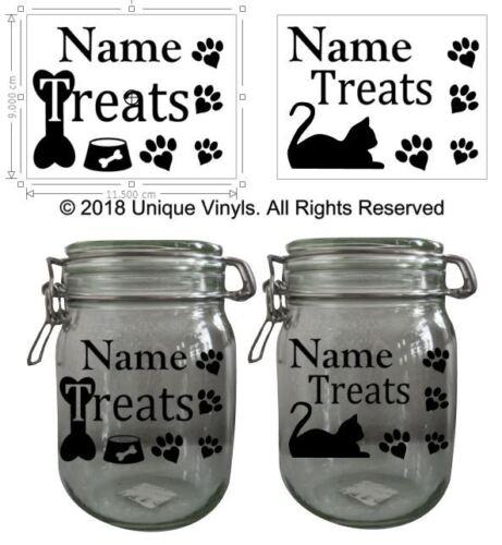 Vinyl Sticker for Jar//Canister//Tin Jar Sticker//Label Dog Treats Cat Treats