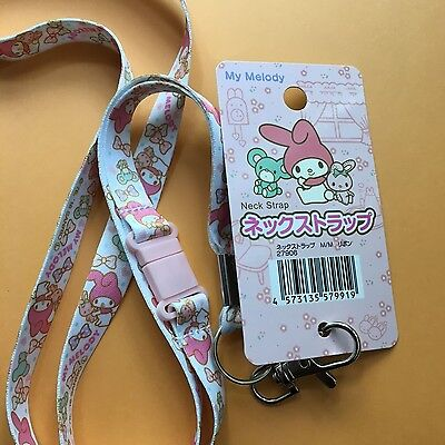 Gudetama Lanyard Neck Strap Key Holder Key Ring Sanrio Kawaii Lazy Egg DAISO