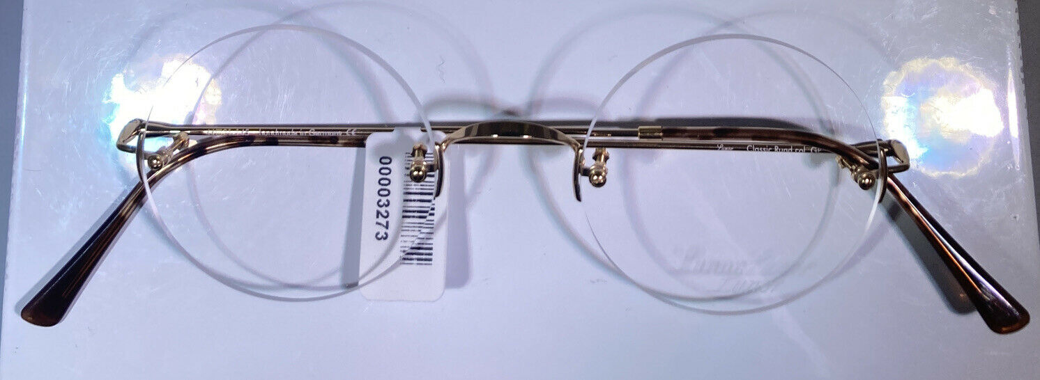 Lunor Brille Classic Roundsteve Jobscol. GP (Gold plated)