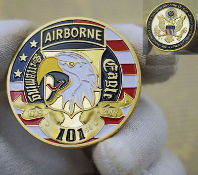 Army 101st Airborne Division Screaming Eagles Challenge Coin NEW U.S