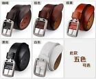 Men's Genuine Leather Cowhide Waist Belt Alloy Pin Buckle Waistband Strap New