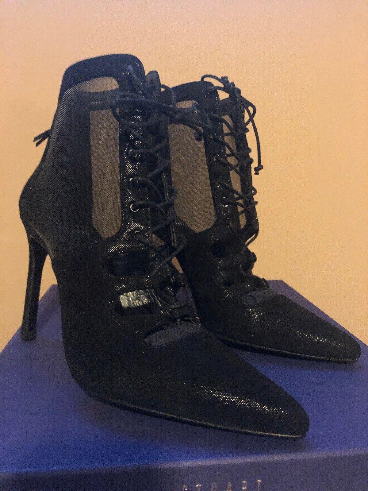in vendita Stuart Weitzman nero Suede Mesh Donna    High Heels Pointed Toe scarpe Dimensione 6.5  scelta migliore