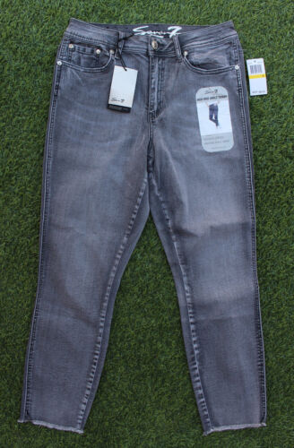 Seven 7 Women/'s High Rise Ankle Skinny Grey Jeans Hamilton Pants Stretch $69 NEW
