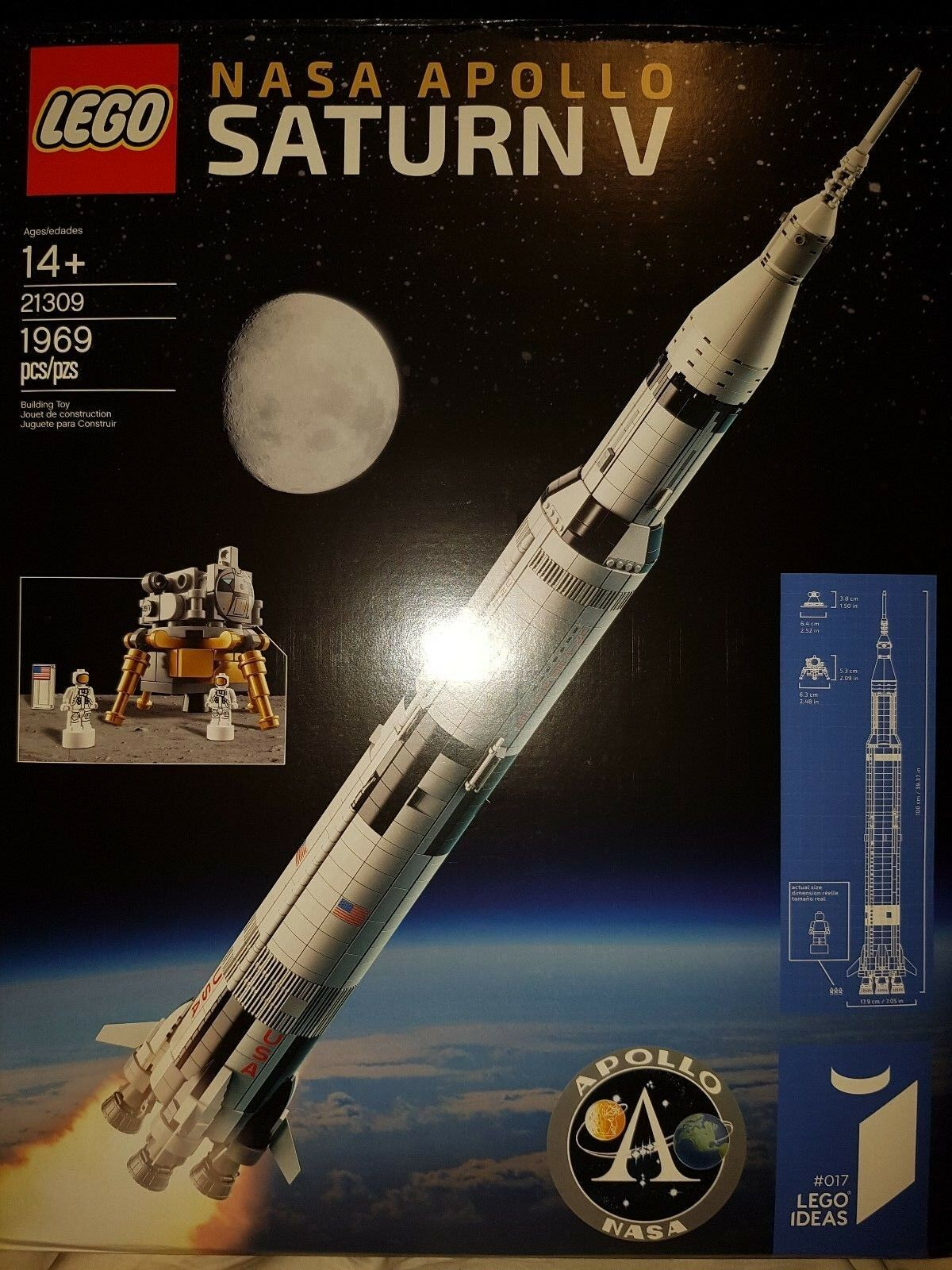 LEGO IDEAS NASA Apollo Saturn V  21309 |BRAND NEW FACTORY SEALED w/ 1969 Pieces