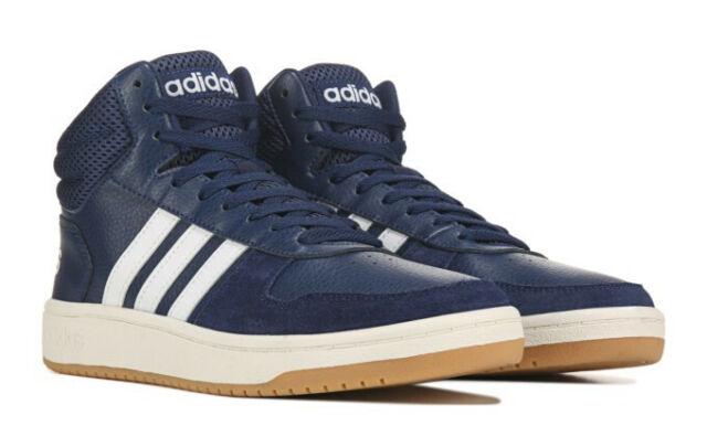 adidas Blue Hoops 2.0 Mid EE7384 Size
