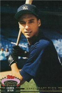 1992 Topps Stadium Club Derek Jeter Rookie Card Fridge Magnet New York Yankees