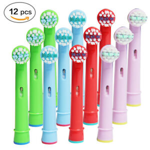 4-12-Brush-Heads-Fits-For-Oral-B-Kids-Stages-Precision-Clean-Electric-Toothbrush