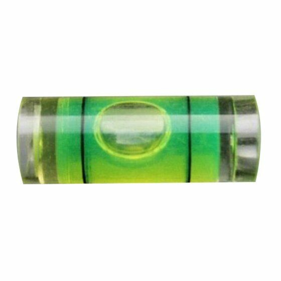 4Pcs 9.5mm(D)X25mm Acrylic Tube Bubble Spirit Level Vial 3/8 inch =9.5mm Di X4L6