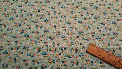 BTY Cranston VIP ~ Brown Floral Quilt Fabric ~ 100/% Cotton Tiny Print Floral