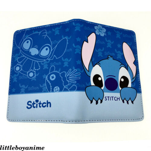 Anime Lilo Stitch PU Imprimer Passport Cover Unisexe Travel Case Credit Card Holder