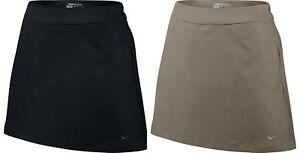 Nike-Golf-Womens-Dri-Fit-16-5-034-Woven-Skorts-Skirt-Shorts-Black-Tan-New
