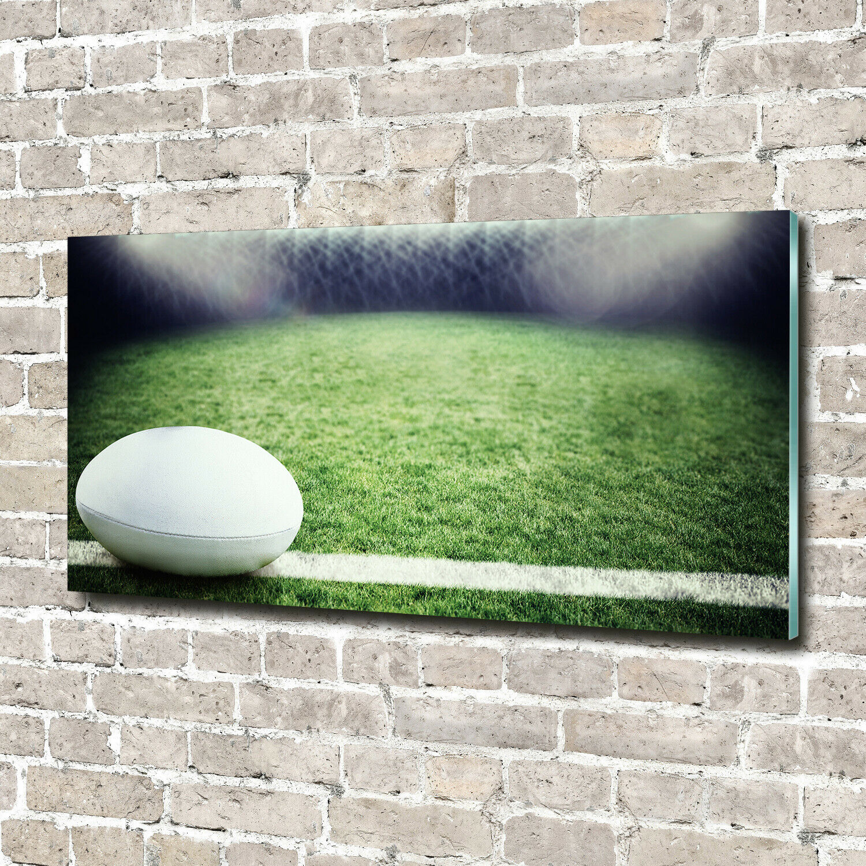 Acrylglas-Bild Wandbilder Druck 140x70 Deko Sport Rugbyball