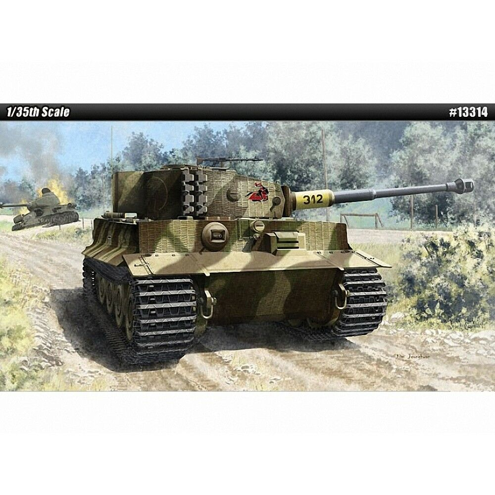 German Tiger I Tank (late Version) - 1 35 Plastic Kit By Academy - Late 135
