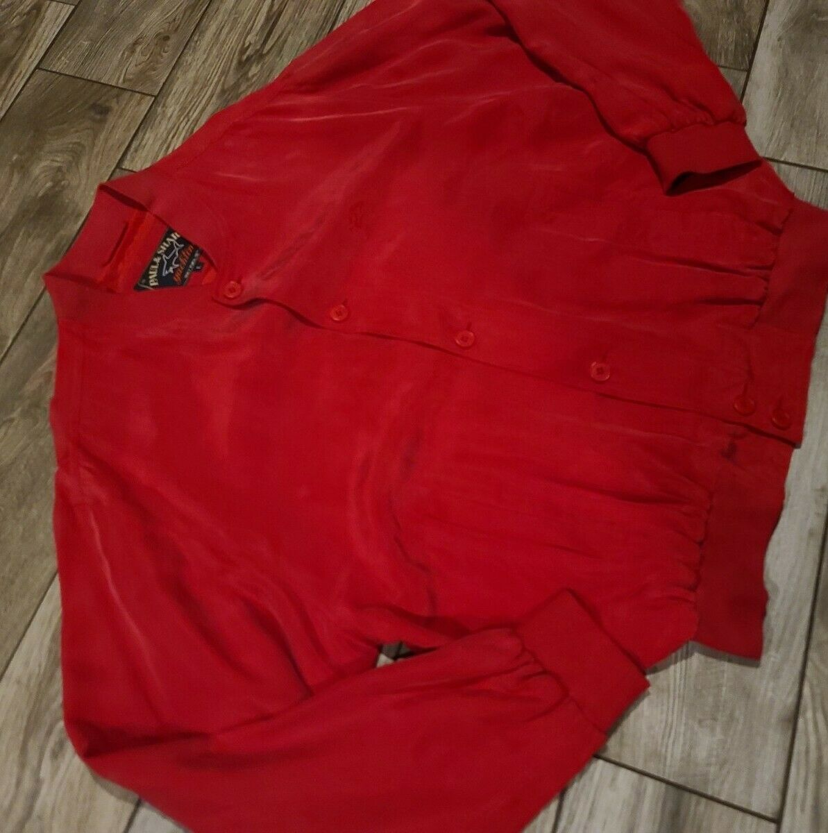 Paul Shark Yachting 100% Silk Buttoned Bomber Jac… - image 2