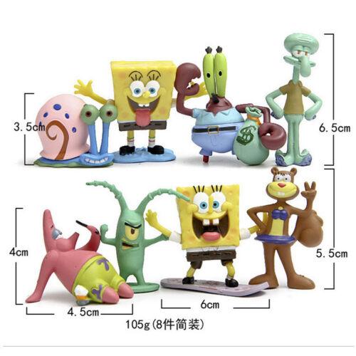 8PCS  Spongebob squarepants cake decoration landscape kid/'s toys Action Figures