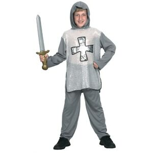 Large-Boys-Knight-Costume-Fancy-Dress-Medieval-Outfit-Kids-Crusader-Book-Week