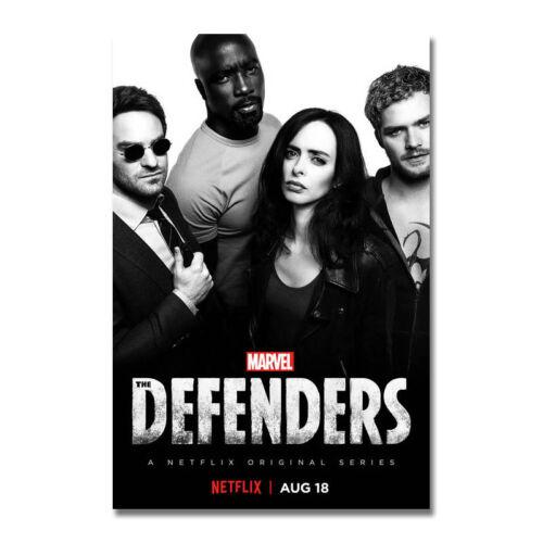 The Defenders Marvel TV Series 2017 New Season Art Silk Canvas Poster Print