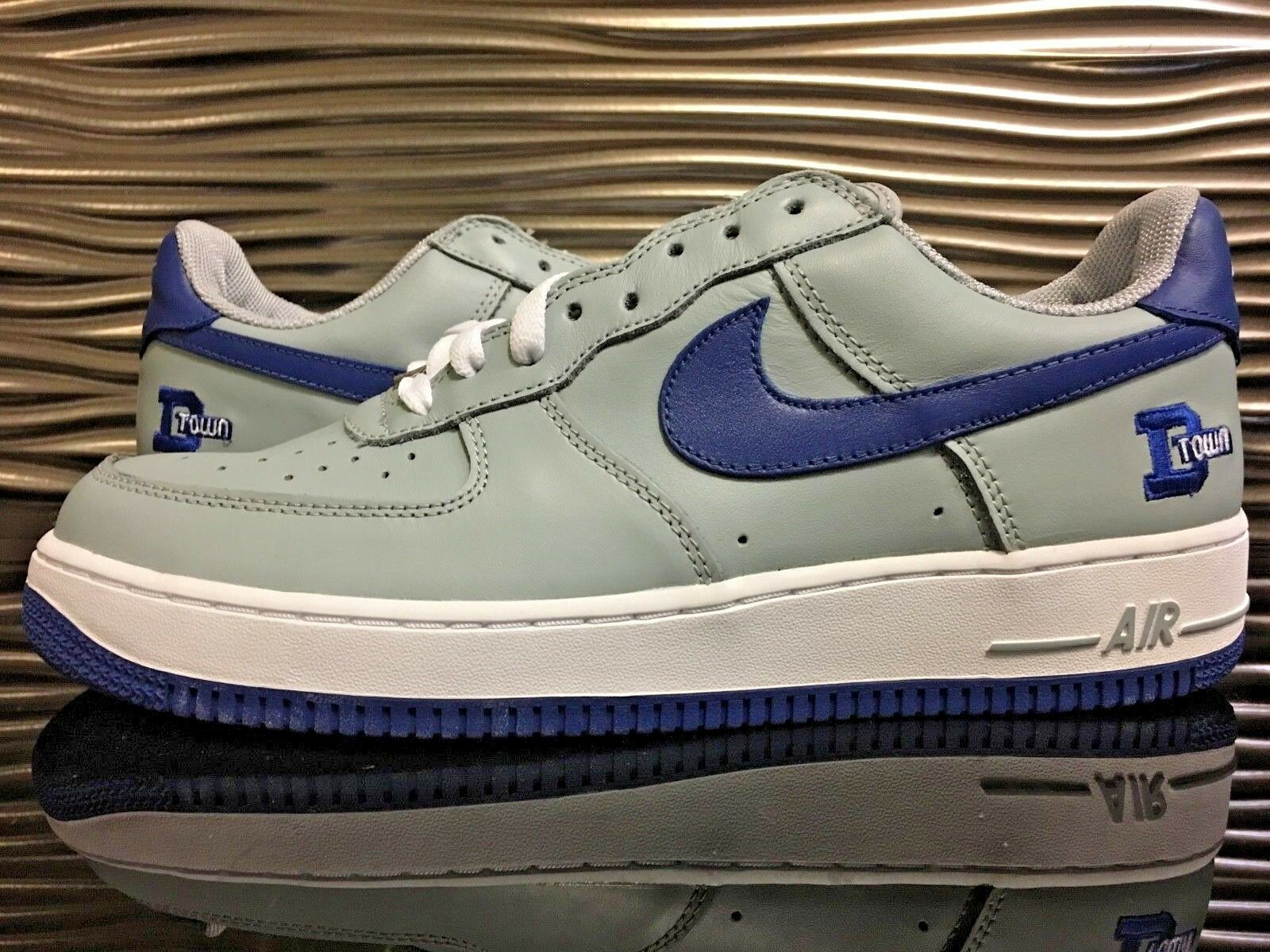Nike Air Force 1 Low D-TOWN DS Men's Size 11.5  Silver Sport Royal-White