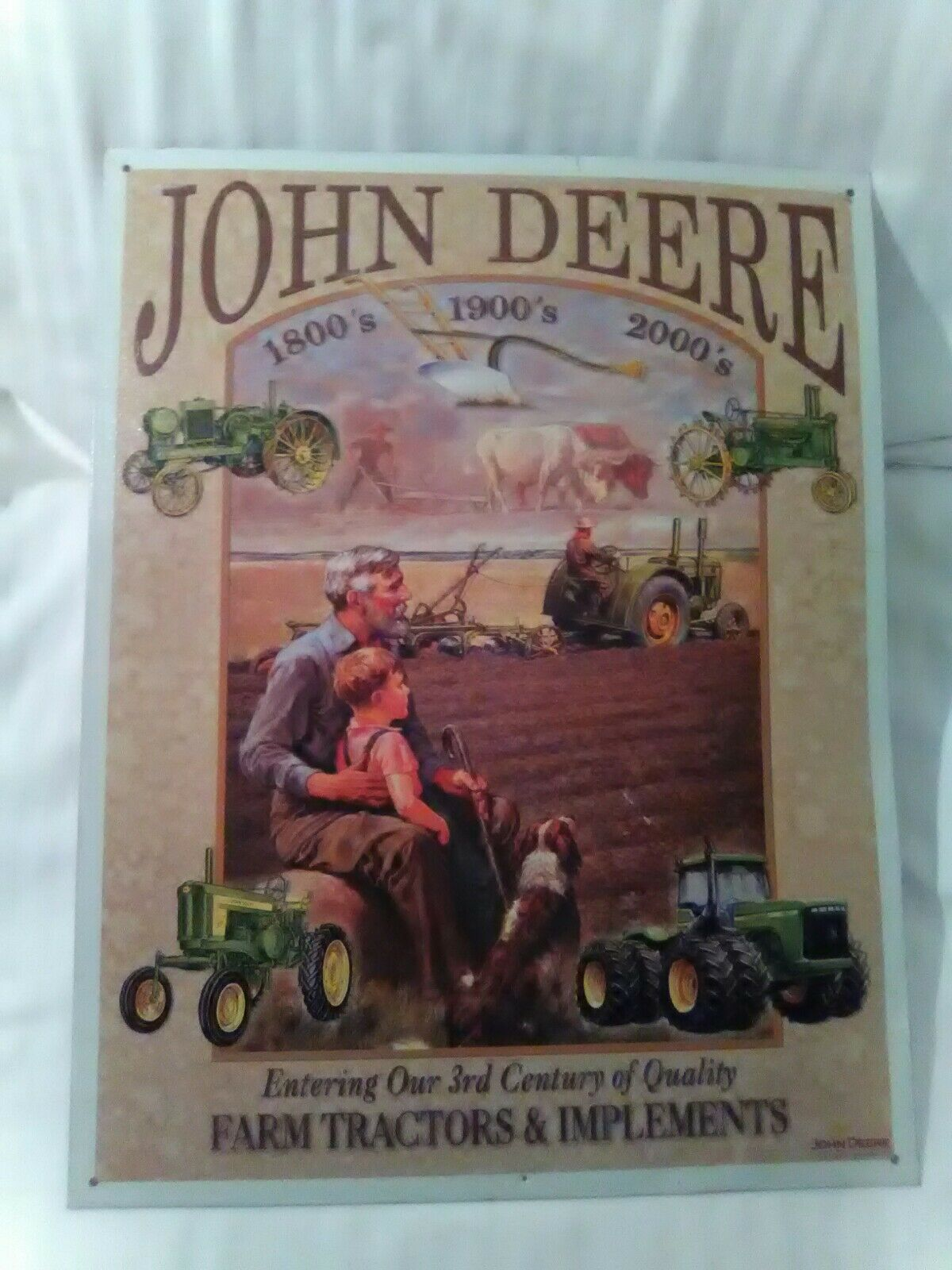 METAL DESPERATE ENTERPRISE ENTERPRISE ENTERPRISE CO. JOHN DEERE SIGN 601aa3