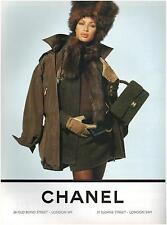 ▬► PUBLICITE ADVERTISING AD Fourrure CHANEL 1994