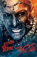 300 Rise Of Empire Movie Poster Xerxes Athens Will Burn 22x34 Rodrigo Santoro